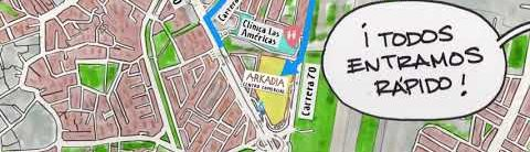 ¿Cómo llegar a Arkadia Centro Comercial?